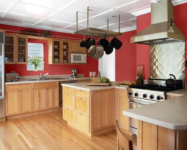 sherwin williams red tomato | Red kitchen walls, Paint for kitchen .