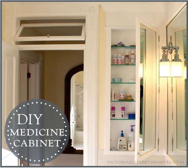 DIY bath remodel = DIY medicine cabine