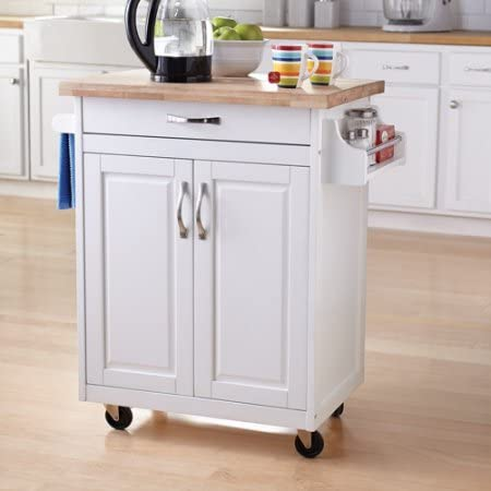 Amazon.com - Kitchen Cart Rolling Island Storage Unit Cabinet .