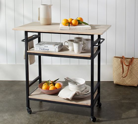 Ari Rolling Kitchen Island | Pottery Ba