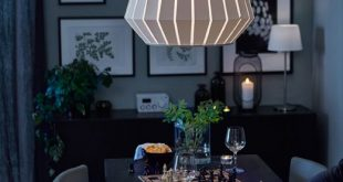 Romantic dinnertable with dimmable ceiling light. | Dimmable .