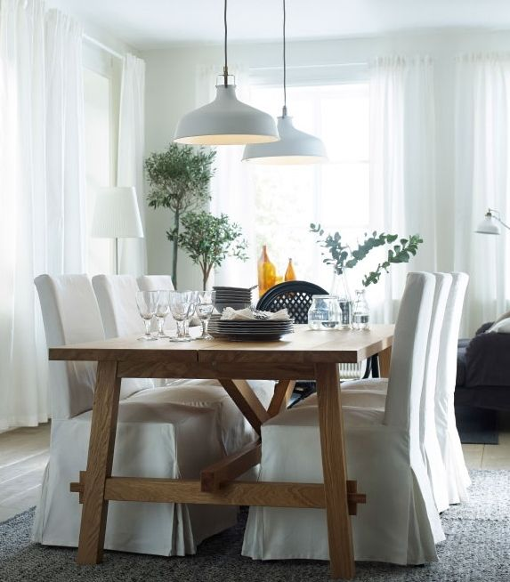 MÖCKELBY Table, oak - IKEA | Ikea dining, Dining room inspiration .