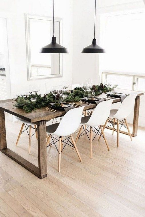 46 Splendid Farmhouse Table Ideas For Dining Room in 2020 | Dining .