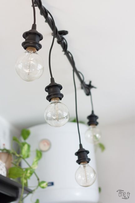 Ikea Hack: DIY Hanging Lights Chandelier | Diy hanging light, Diy .