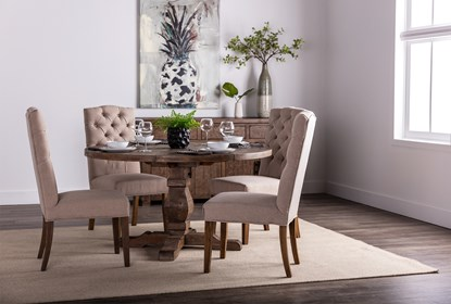 Caden 5 Piece Round Dining Set | Living Spac