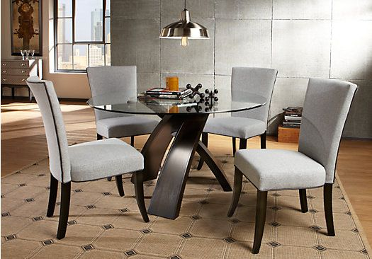Del Mar 5 Pc Dining Room | Dining room table set, Round dining .