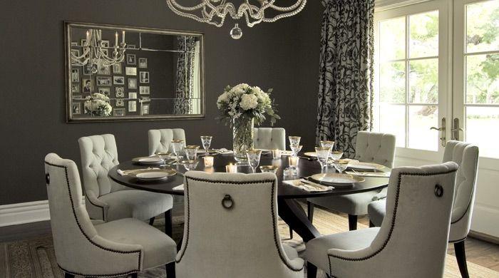 Gray Dining Room - Transitional - dining room - Vallone Design .