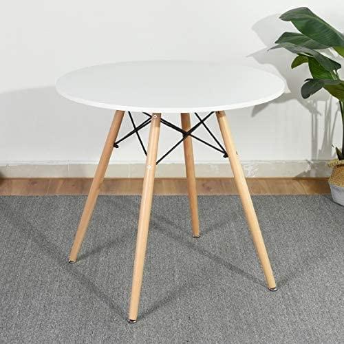 Amazon.com - HOMY CASA Dining Table Round Coffee Table Mid Century .