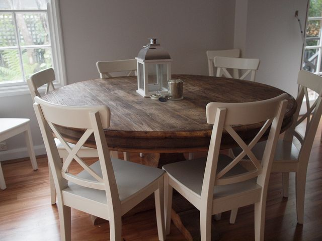 Think I need this for my dining room! Ikea chairs and table by .