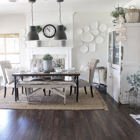 I love when the light shines through my kitchen and dining room .
