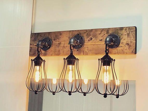 Vanity Light Fixture, Rustic Light Fixture, Lighting, Wall Light .