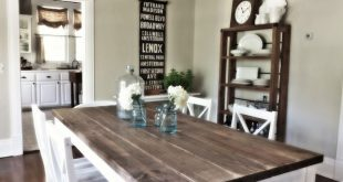 rustic white dining room - Google Search | Diy dining room table .