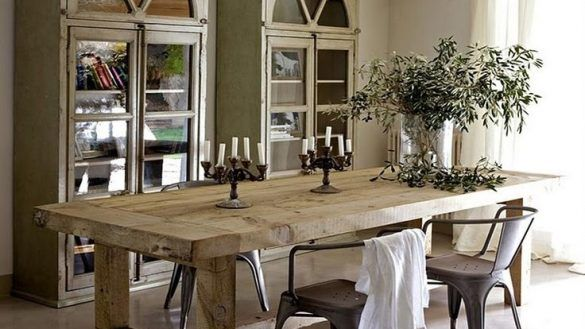 Furniture: Elegant Rustic Dining Tables In Room Black Reclaimed .