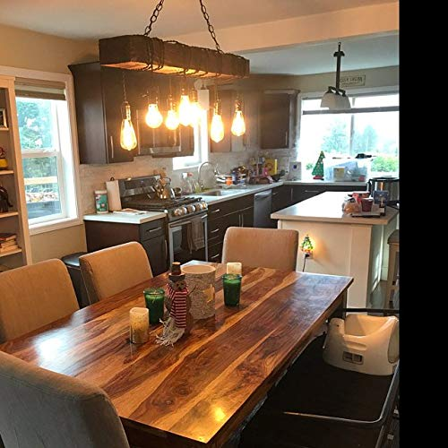 Amazon.com: Wood chandelier, farmhouse dining room lighting .