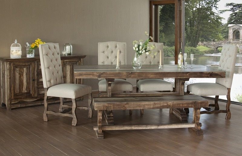 IFD Furniture | 435 Marquez Rustic Dining Room Set with .