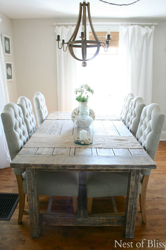 My Favorite Room.....Nest of Bliss | Farmhouse dining room table .