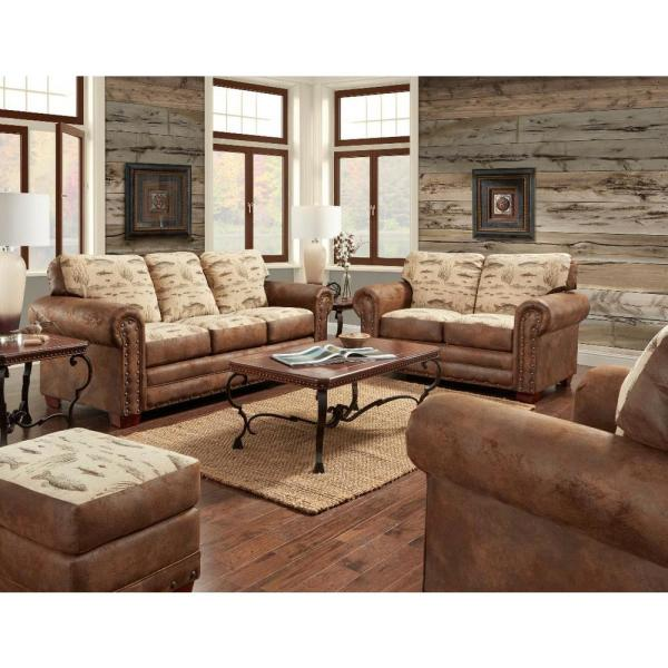 American Furniture Classics Angler's Cove 88 in. Tapestry Pattern .