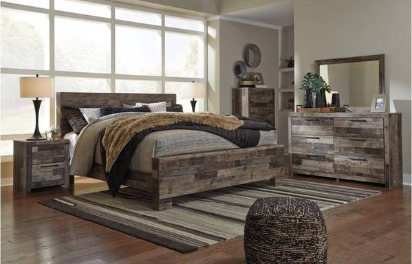 Derekson 4-Piece Bedroom Set Rustic Style Wood | By Ashley at ASY .