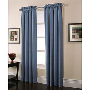 Jaclyn Smith -Stockton Blackout Panels 42X84 Blue | Curtains .