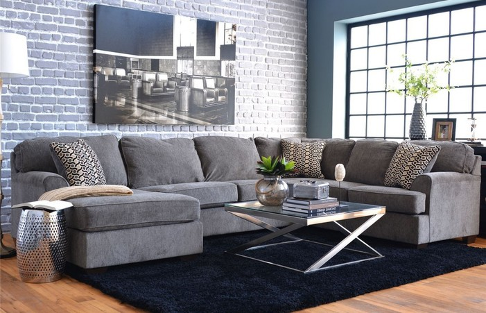 Living Room Layout And Decor Grey Sectional Ideas Small Farmhouse .