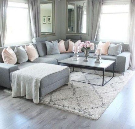Living Room Apartment Gray Couch 57+ Ideas | Living room decor .