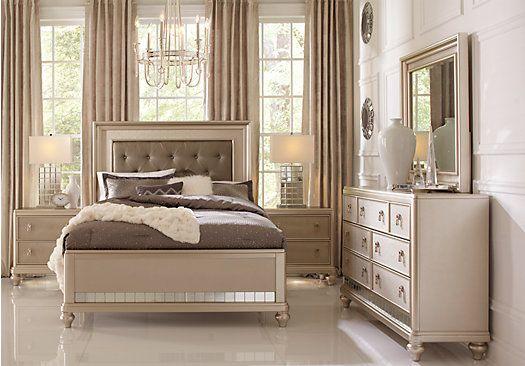 Sofia Vergara Paris Silver 5 Pc Queen Bedroom | Queen bedroom .