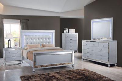 Valentino Silver 5 Piece Queen Bedroom Set in 2020 | Bedroom sets .