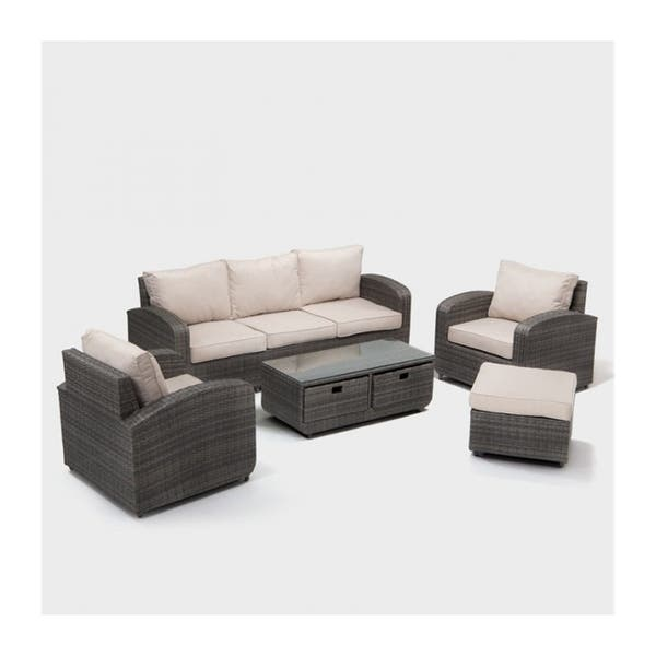 Shop 5-Piece Sofa set New Fashionable Simple Gray Cane Living Room .