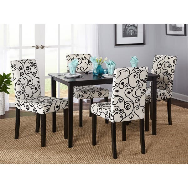 Shop Simple Living Sophia 5-piece Parson Cream Dining Set - On .