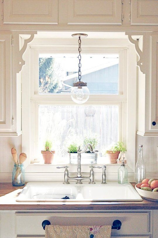Style Boosts: Ideas for Upgrading a Simple Kitchen Sink Window .