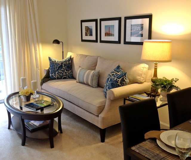 Only Furniture: Contemporary Small Apartment Living Room Design .