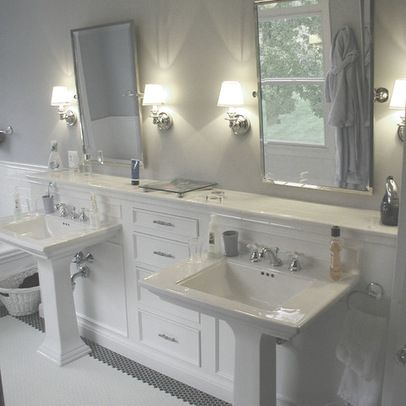 Double Pedestal Sinks Design Ideas, Pictures, Remodel and Decor .