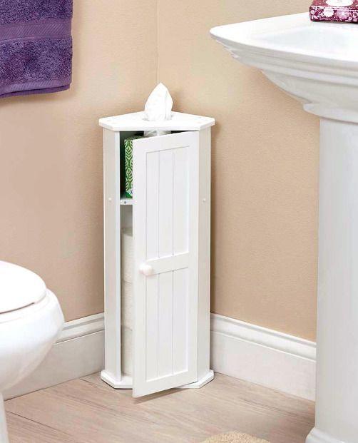 Small Corner Cabinet for Bathroom Toilet Paper Holder Storage .