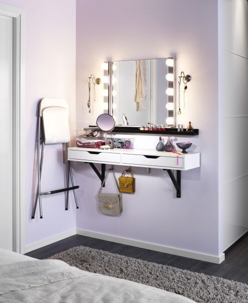 15 Super Cool Vanity Ideas For Small Bedrooms | Small bedroom .