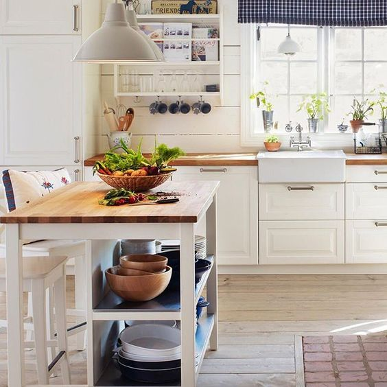 25 Mini Kitchen Island Ideas For Small Spaces | Ikea kitchen .