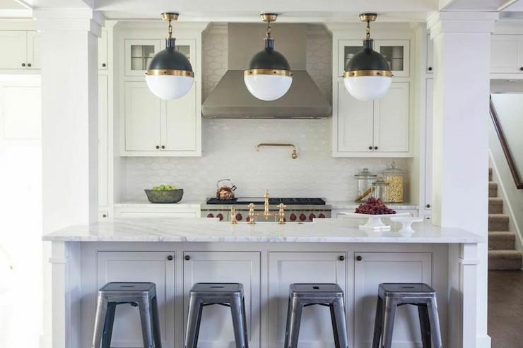 Kitchen Island Columns - Transitional - Kitchen - Julie Couch .