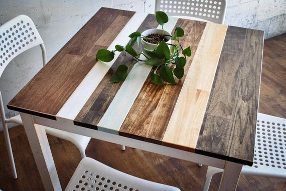 Square Dining Table Farmhouse Breakfast Table Kitchen | Et