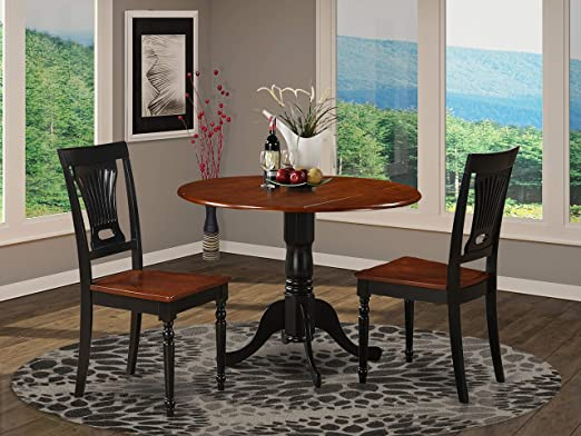 Amazon.com: 3 Pc small Kitchen Table and Chairs set-round Table .