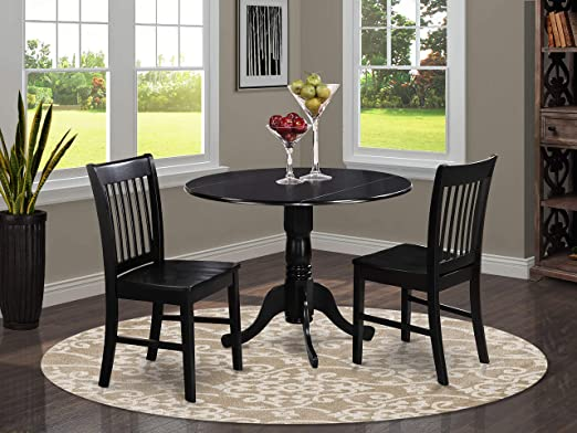 Amazon.com - 3 Pc small Kitchen Table and Chairs set-Kitchen Table .