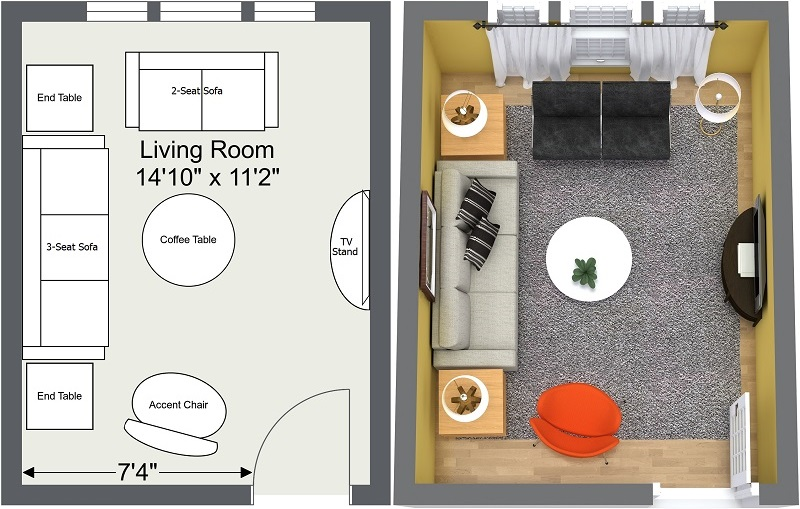 Small Living Room Designs Layout Plans