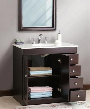 Small Bathroom Solutions: Storage Smart Bathroom Vanities | Small .