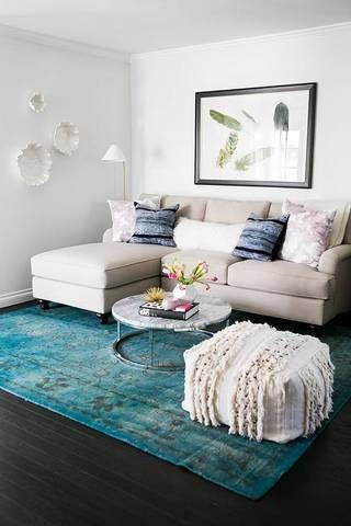 How To Make a Small Living Room Look Bigger | Small living room .