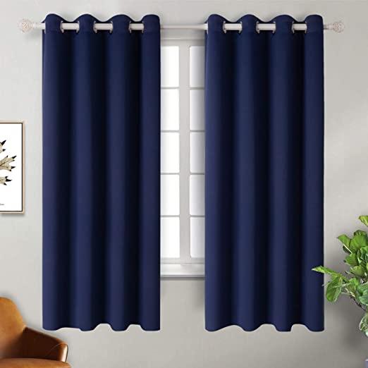 Amazon.com: BGment Navy Blackout Curtains for Bedroom - Grommet .