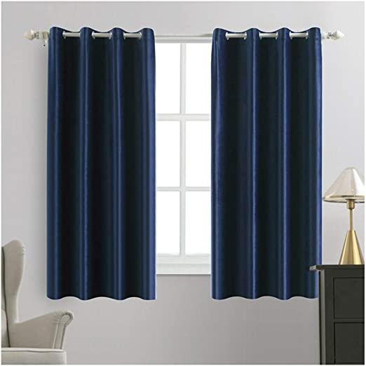 Amazon.com: MIULEE 2 Panels Blackout Velvet Curtains Solid Soft .