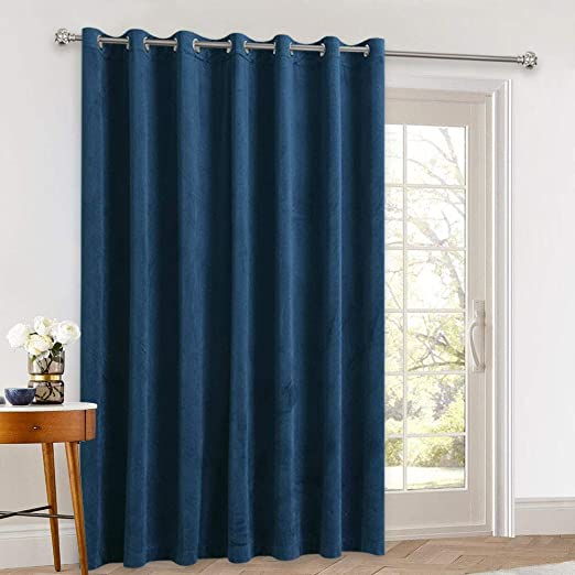 Amazon.com: StangH Velvet Curtain 108 inches Long - Thick Soft .