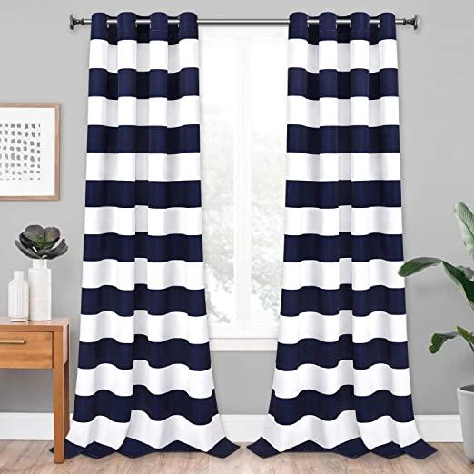 Amazon.com: VERTKREA Stripe Window Curtain Striped Room Window .