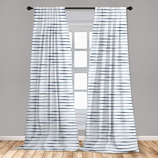 Amazon.com: Ambesonne Harbour Stripe Curtains 2 Panel Set .