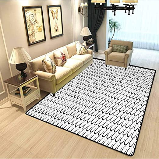 Amazon.com: Black and White Modern Interior Soft Carpet Minimal .