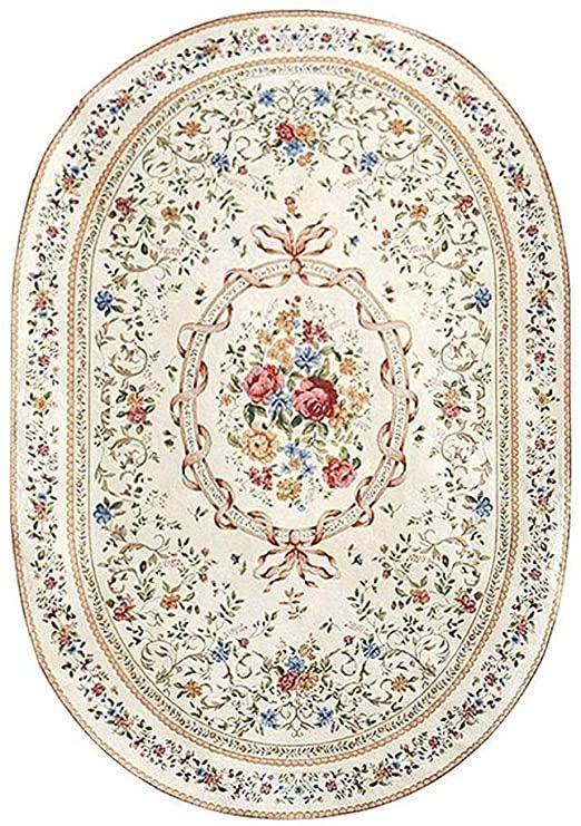 Amazon.com: NILINBA Rural Style Carpet, Stylish Large Oval Living .