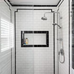 75 Beautiful Mid-Century Modern Subway Tile Bathroom Pictures .